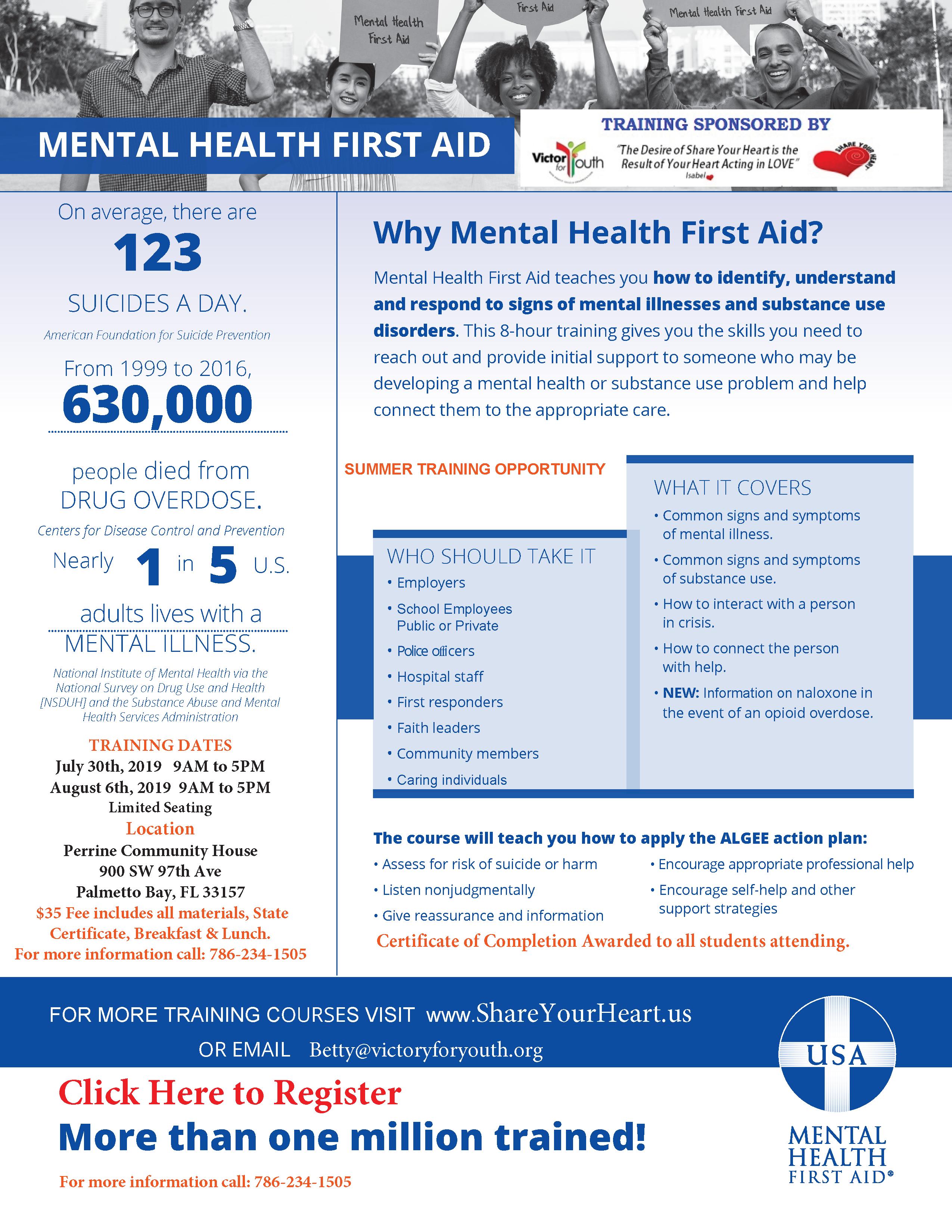 Mental Health First Aid Training @ Perrine Community House   Miami   Florida   United States