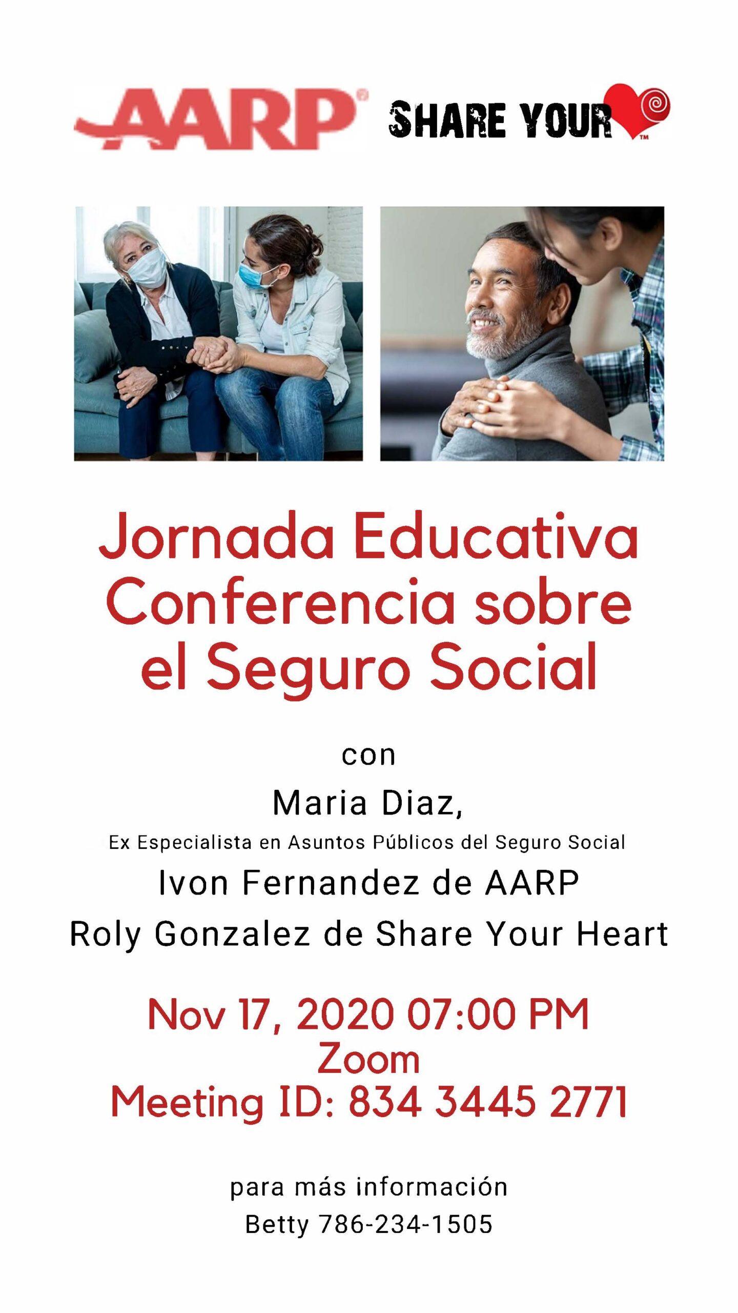 Jornada Educativa Conferencia sobre el Seguro Social @ Zoom Meeting