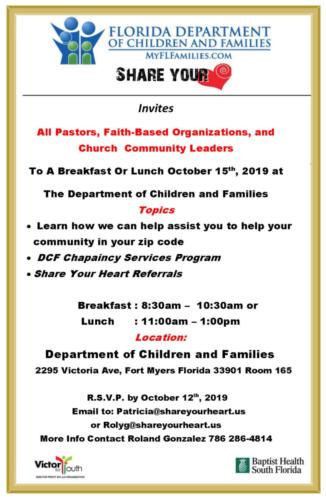 faith based breakfast invitation