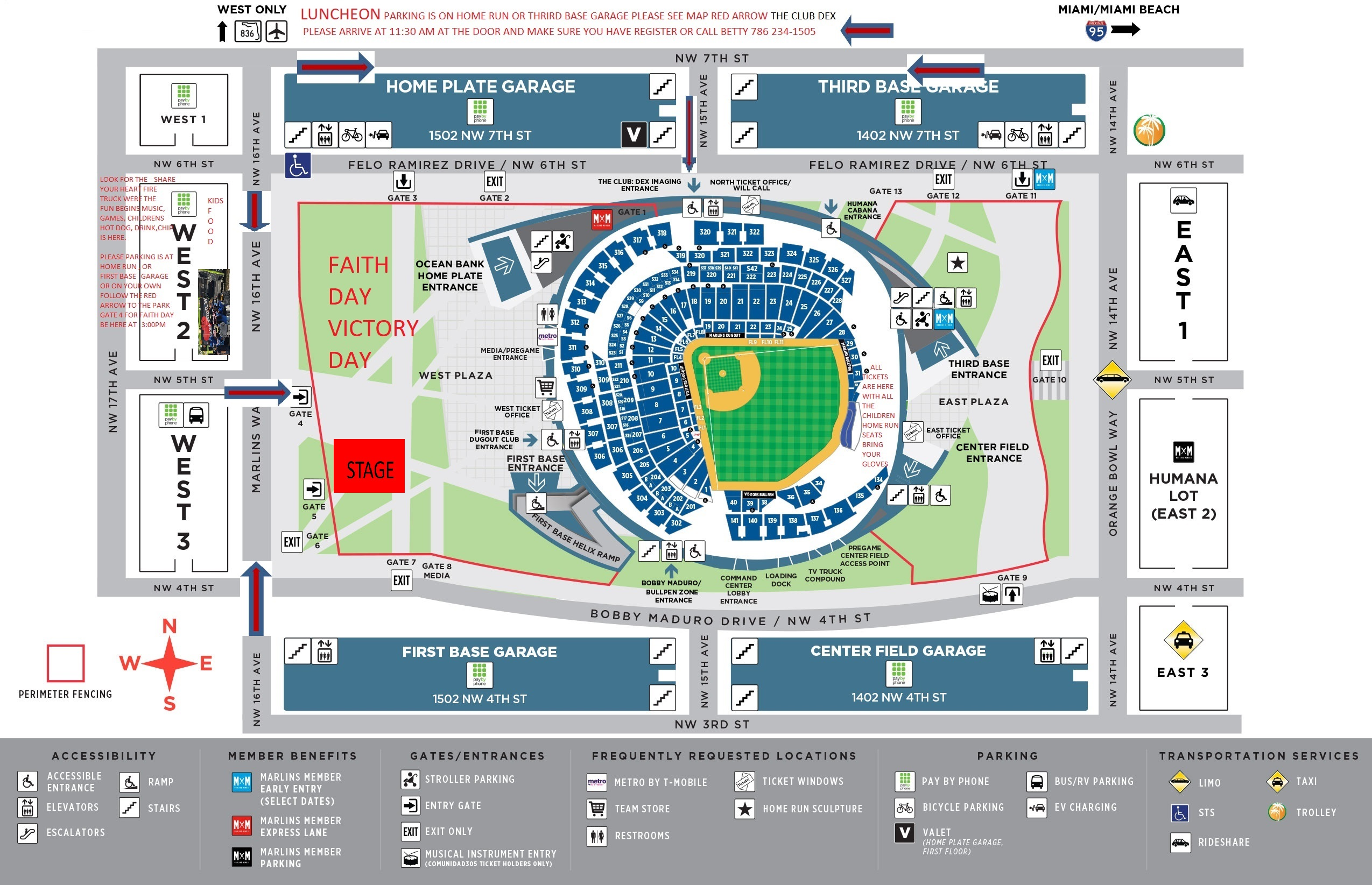 game day map